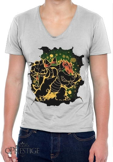 T-Shirt homme Col V Bowser Abstract Art