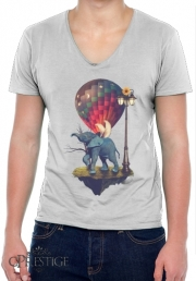 T-Shirt homme Col V Elephant Angel