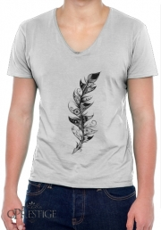 T-Shirt homme Col V Feather
