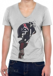 T-Shirt homme Col V Football Helmets Houston