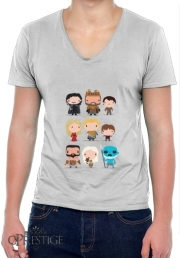 T-Shirt homme Col V Got characters
