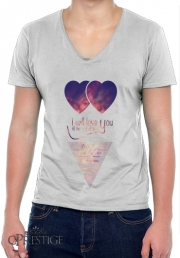T-Shirt homme Col V I will love you