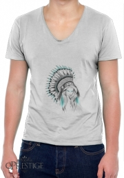 T-Shirt homme Col V Indian Headdress