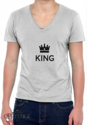 T-Shirt homme Col V King