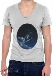 T-Shirt homme Col V Knight in ghostly armor