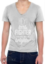 T-Shirt homme Col V Little Fighter