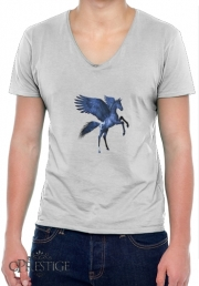 T-Shirt homme Col V Cheval Pégase