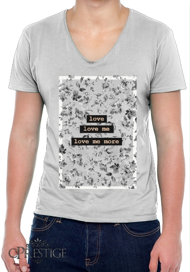 T-Shirt homme Col V love me more