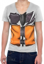 T-Shirt homme Col V Naruto Cosplay