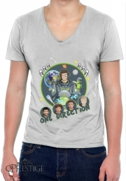 T-Shirt homme Col V Outer Space Collection: One Direction 1D - Harry Styles