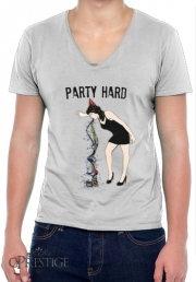 T-Shirt homme Col V Party Hard