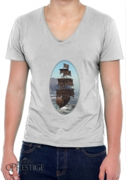 T-Shirt homme Col V Bateau Pirate