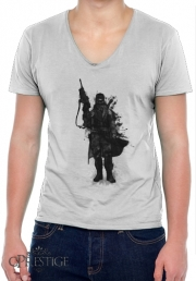 T-Shirt homme Col V Post Apocalyptic Warrior