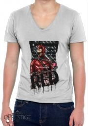 T-Shirt homme Col V Red