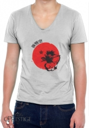 T-Shirt homme Col V Red Sun Young Monkey