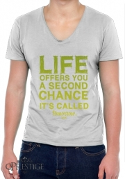 T-Shirt homme Col V Second Chance
