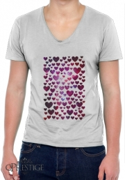 T-Shirt homme Col V Space Hearts