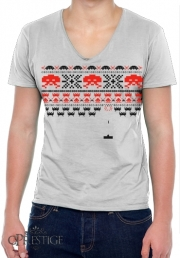 T-Shirt homme Col V Space Invaders