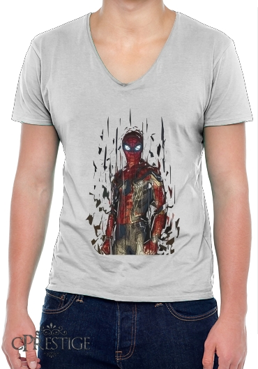 T-Shirt homme Col V Spiderman Poly