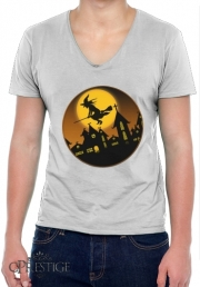 T-Shirt homme Col V Spooky Halloween 2