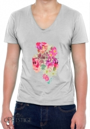 T-Shirt homme Col V SUMMER LOVE