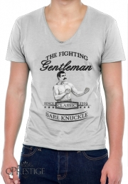 T-Shirt homme Col V The Fighting Gentleman