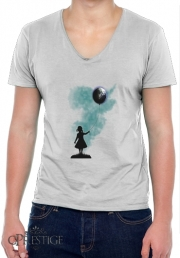 T-Shirt homme Col V The Girl That Hold The World