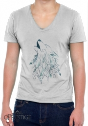 T-Shirt homme Col V Wolf