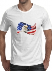 T-Shirt Manche courte cold rond American Eagle and Flag