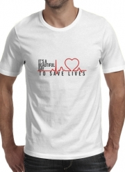 T-Shirt Manche courte cold rond Beautiful Day to save life
