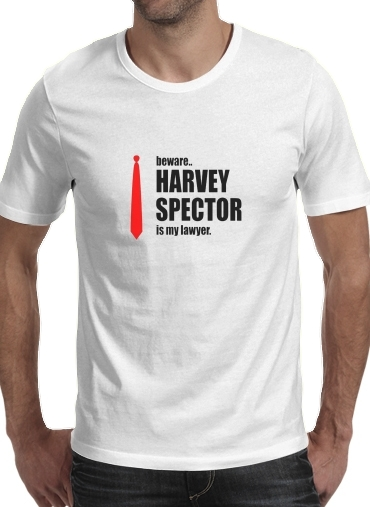T-Shirt Manche courte cold rond Beware Harvey Spector is my lawyer Suits