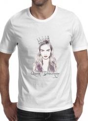 T-Shirt Manche courte cold rond Cara Delevingne Queen Art