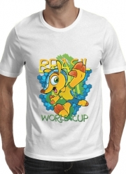 T-Shirt Manche courte cold rond Fuleco Brasil 2014 World Cup 01