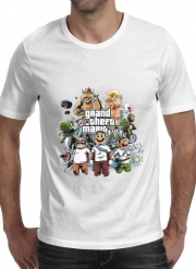 T-Shirt Manche courte cold rond Grand Theft Mario