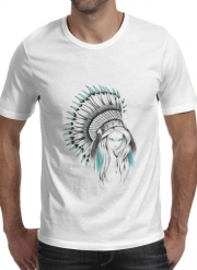 T-Shirt Manche courte cold rond Indian Headdress