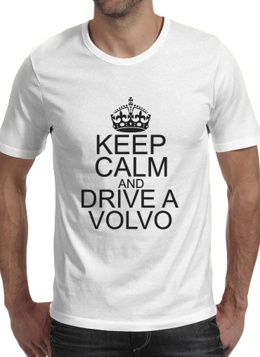 T-Shirt Manche courte cold rond Keep Calm And Drive a Volvo