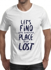 T-Shirt Manche courte cold rond Let's find some beautiful place