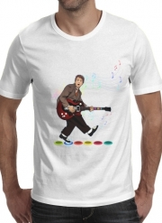 T-Shirt Manche courte cold rond Marty McFly plays Guitar Hero
