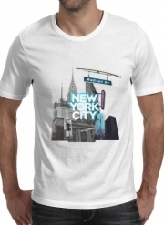 T-Shirt Manche courte cold rond New York City II [blue]