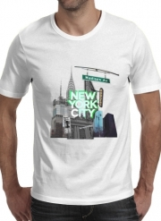 T-Shirt Manche courte cold rond New York City II [green]