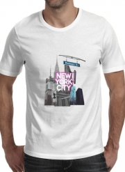 T-Shirt Manche courte cold rond New York City II [pink]