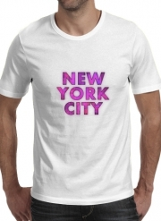 T-Shirt Manche courte cold rond New York City Broadway - Couleur rose