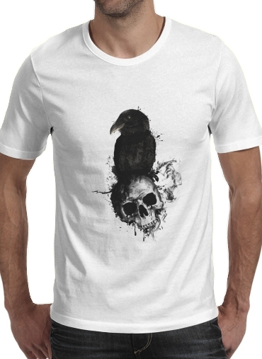 T-Shirt Manche courte cold rond Raven and Skull