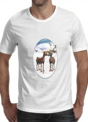 T-Shirt Manche courte cold rond Reindeers Love