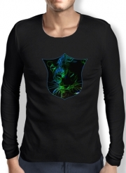 Mens Long Sleeve T-shirt Abstract neon Leopard
