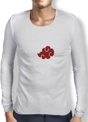 Mens Long Sleeve T-shirt Akatsuki Cloud REd