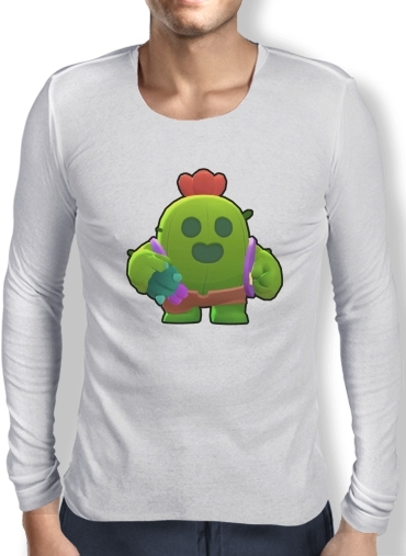 T-Shirt homme manche longue Brawl Stars Spike Cactus