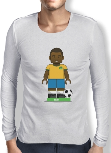 Mens Long Sleeve T-shirt Bricks Collection: Brasil Edson