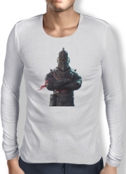 Mens Long Sleeve T-shirt Black Knight Fortnite