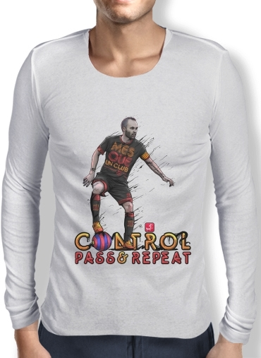 Mens Long Sleeve T-shirt Control Pass and Repeat